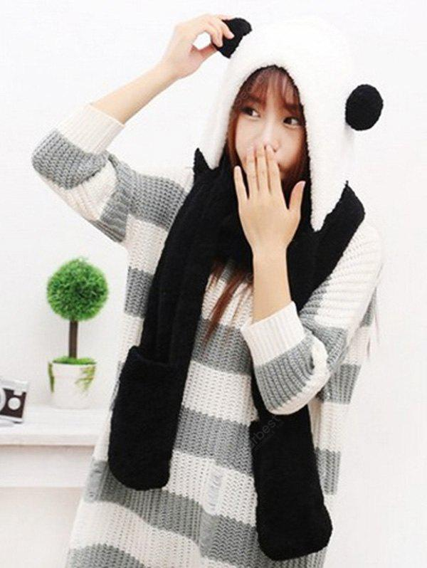 Three-in-one Winter Plush Hat Scarf Gloves for Women