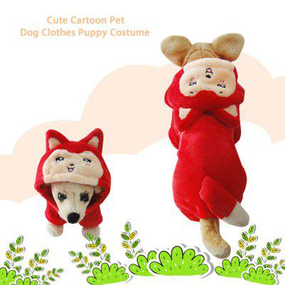 Cute Cartoon Pet Dog Clothes Puppy Costume