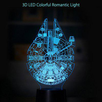 3D LED Colorful Romantic Light Lamp