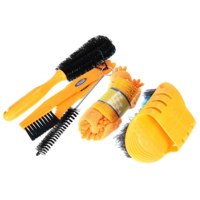 CYLION 1274 6 Pieces Bicycle Cleaning Tool Set