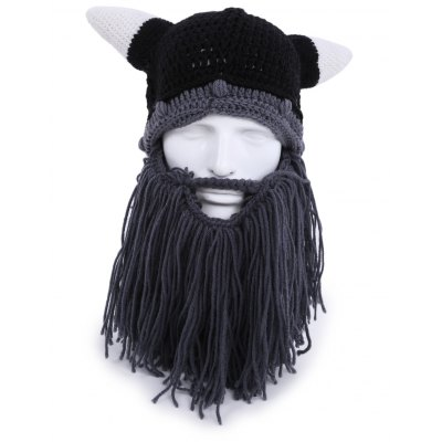 Creative Beard Horn Warm Winter Knitted Pirate Hat