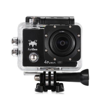 FuriBee Q6 WiFi 4K Ultra HD Action Sport CameraAction Cameras<br>FuriBee Q6 WiFi 4K Ultra HD Action Sport Camera<br><br>Aerial Photography: No<br>Anti-shake: No<br>Audio System: Built-in microphone/speaker (AAC)<br>Auto Focusing: No<br>Battery Capacity (mAh): 900mAh<br>Battery Type: External<br>Brand: FuriBee<br>Camera Pixel: 16MP<br>Camera Timer: Yes<br>Charge way: AC adapter,Car charger,USB charge by PC<br>Charging Time: 2h<br>Chipset: Allwinner V3<br>Chipset Name: Allwinner<br>Decode Format: H.264<br>Features: Wireless<br>Frequency: 50Hz,60Hz,Auto<br>Function: Camera Timer<br>Image Format: JPEG<br>Interface Type: TF Card Slot, Micro HDMI, Micro USB<br>ISO: Auto,ISO100,ISO1600,ISO200,ISO400,ISO800<br>Language: Deutsch,Dutch,English,French,Italian,Japanese,Korean,Polski,Portuguese,Russian,Simplified Chinese,Spanish,Thai,Traditional Chinese,Turkish<br>Lens Diameter: 17mm<br>Max External Card Supported: TF 64G (not included)<br>Microphone: Built-in<br>Model: Q6<br>Night vision: No<br>Optical Zoom: Yes<br>Package Contents: 1 x Action Camera, 1 x Waterproof Housing + Mount + Screw, 1 x English User Manual, 1 x Handle Bar Mount, 1 x J-shaped Mount, 3 x Connector, 3 x Screw, 1 x Tripod Mount, 1 x Tripod Mount Adapter, 1 x<br>Package size (L x W x H): 16.40 x 6.00 x 27.00 cm / 6.46 x 2.36 x 10.63 inches<br>Package weight: 0.5780 kg<br>Product size (L x W x H): 6.00 x 3.00 x 4.00 cm / 2.36 x 1.18 x 1.57 inches<br>Product weight: 0.0580 kg<br>Screen resolution: 320x240<br>Screen size: 2.0inch<br>Screen type: LCD<br>Standby time: 70 minutes<br>Time lapse: Yes<br>Type: Sports Camera<br>Type of Camera: 4K<br>Video format: MP4<br>Video Frame Rate: 30FPS,60FPS,90fps<br>Video Resolution: 1080P(30fps),1080P(60fps),2.7K (30fps),4K (30fps),720P (90fps)<br>Waterproof: Yes<br>Waterproof Rating: IP68, 30m waterproof<br>Wide Angle: 170 degree wide angle<br>WIFI: Yes<br>WiFi Distance: 5m<br>WiFi Function: Image Transmission,Remote Control,Settings,Sync and Sharing Albums<br>Working Time: 90min at 1080P