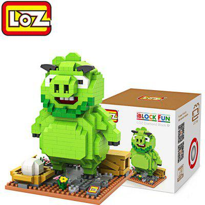 LOZ 550Pcs ABS Cartoon Pig Building Block
