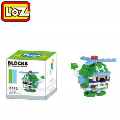LOZ 8312 Cartoon Building Block Educational Decoration Toy for Spatial Thinking - 210Pcs