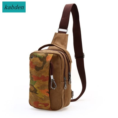 Kabden 8710 Canvas 3.5L Leisure Sports Sling Bag