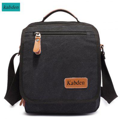 Kabden 3804 4L Men Multifunctional Canvas Single Shoulder Bag