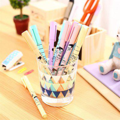 Deli S610 12PCS 6 Colors Blink Pen