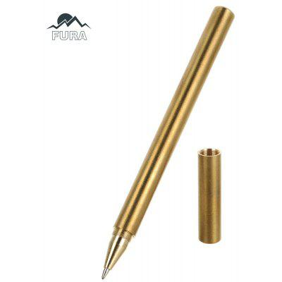 FURA Brass Tactical Gel Pen with Clip Portable Outdoor Tool