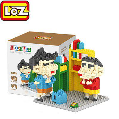 LOZ 9465 Mini Crayon Shin-chan Diamond Building Block 410Pcs Educational Toy