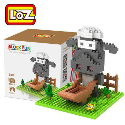 LOZ 250Pcs L - 9475 Shaun the Sheep Q Version Mini Figure Building Block Toy for Enhancing Social Cooperation Ability