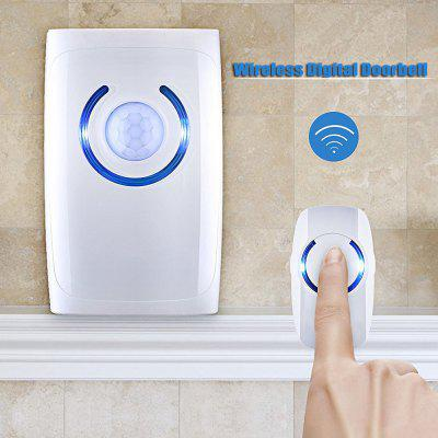 Wireless Doorbell Alarm with Emergency Flashlight