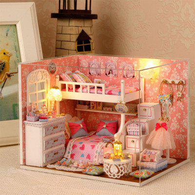 Miniature House Shape DIY Art Handicraft Game Toy