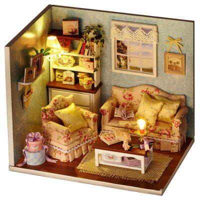 Wooden DIY House Miniature Kit with LED Light