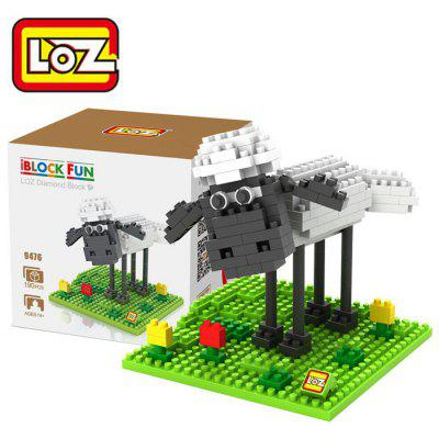 LOZ 190Pcs L - 9476 Crawling Version Shaun the Sheep Mini Figure Building Block Toy for Enhancing Social Cooperation Ability