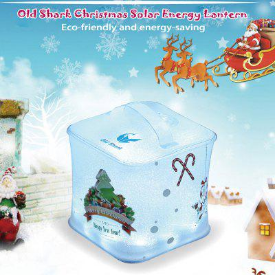 Old Shark Christmas LED Solar Energy Lantern