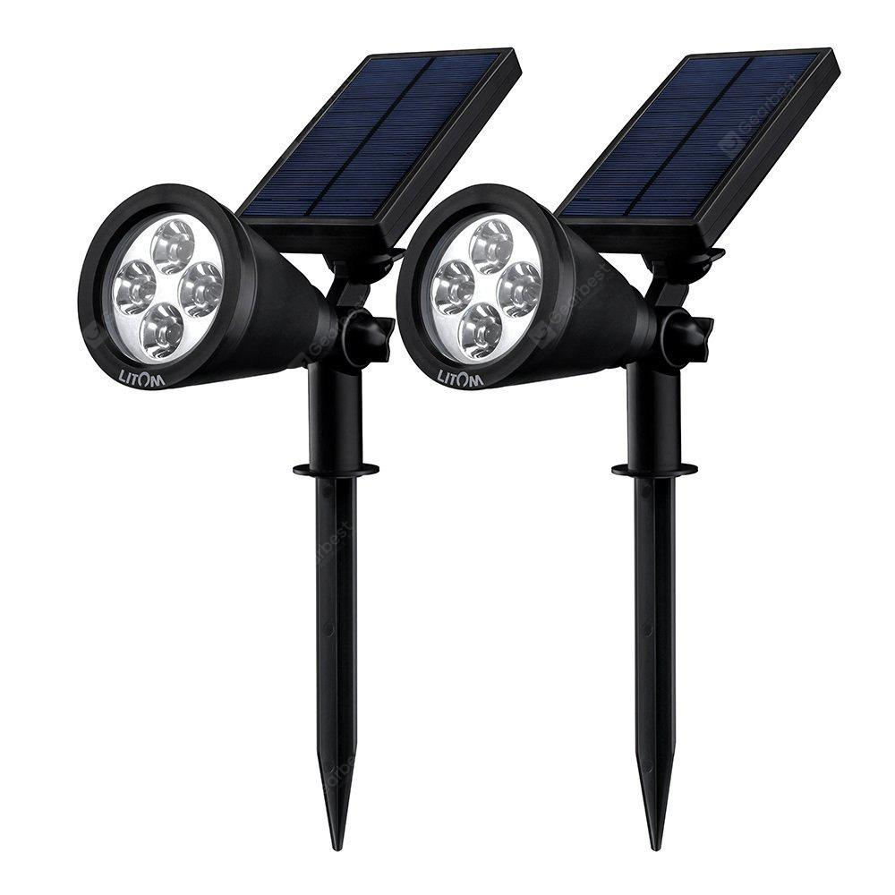 2PCS Litom LED Solar Spotlight
