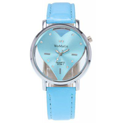 Rhinestone Heart Quartz Watch