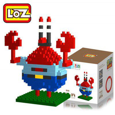 LOZ 130Pcs M - 9144 SpongeBob Mr. Krabs Building Block Educational Toy for Brain Thinking