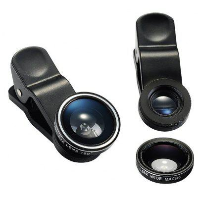 3 in 1 Clip-on Photo Camera Lens Kit