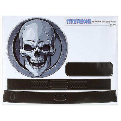 STICKERBOMB Cartoon Skull Design Paster Protector for Xiaomi Robotic Vacuum Cleaner