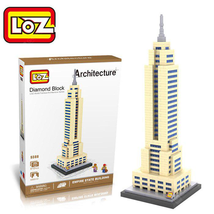 Buy LOZ 829388 Empire State Building Assembling Block Educational Toy Cooperative Ability - World Great Architecture Series YELLOW