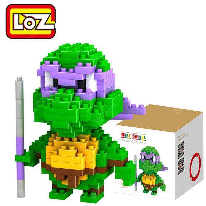 Buy LOZ 20M - 9148 Teenage Mutant Ninja Turtles Donatello Building Block Educational Assembling Gift Spatial Thinking GREEN