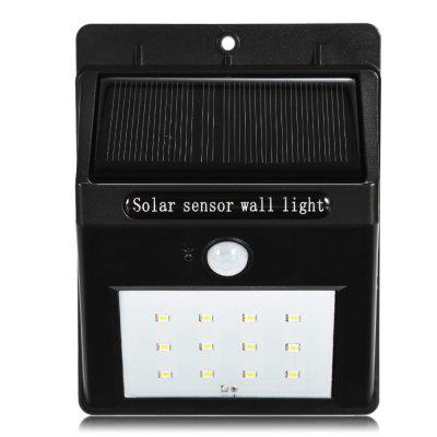 Solar Powered PIR LED Wall Light