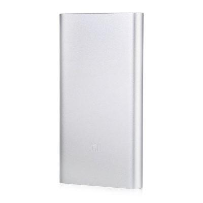 Original Xiaomi Ultra-thin 10000mAh Mobile Power Bank 2 original xiaomi 10000mah power bank silicone case charger protector cover white