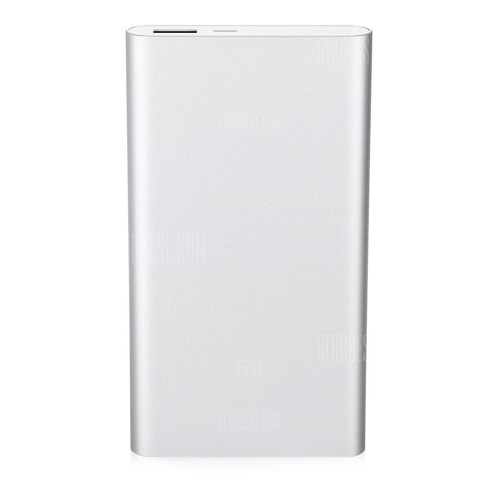 Original Xiaomi Ultra-thin 10000mAh Mobile Power Bank 2 - SILVER