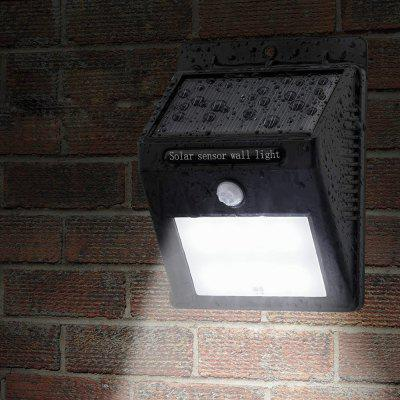 Solar Powered PIR LED Wall LightOutdoor Lights<br>Solar Powered PIR LED Wall Light<br><br>Available Color: Black<br>Battery Capacity: 1200mAh Li-ion battery<br>Battery Voltage: 3.7V<br>Charging Time: 8h<br>Color Temperature: 5000-5500K<br>Features: Waterproof, Rechargeable, Light Control, Body Induction<br>Light Type: Outdoor Light,Solar Light<br>Luminous Flux: 264-288LM<br>Material: PC<br>Optional Light Color: White<br>Package Contents: 1 x Solar Sensor Light, 1 x Expansion Pillar-hinge, 1 x Screw, 1 x Key Pin, 1 x English Manual<br>Package size (L x W x H): 13.50 x 10.50 x 5.80 cm / 5.31 x 4.13 x 2.28 inches<br>Package weight: 0.2050 kg<br>Powered Source: Solar and Battery<br>Product size (L x W x H): 12.50 x 9.50 x 4.80 cm / 4.92 x 3.74 x 1.89 inches<br>Product weight: 0.1500 kg<br>Rated Power (W): 0.2W<br>Sensing Angle / Distance: 120 degree / 15ft<br>Solar Panel: 0.55W<br>Total LED: 12<br>Working Time: 12h