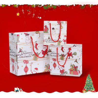 3PCS Christmas Cartoon Souvenir Present Bags