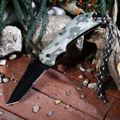 PA65 Liner Locking Pocket Knife with Survival Blades
