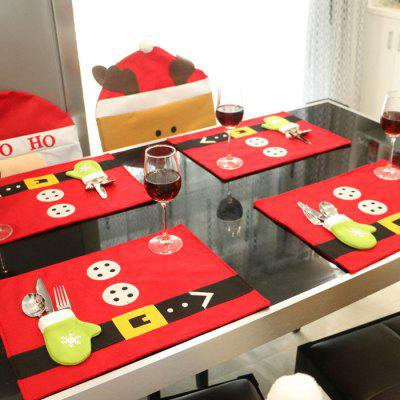 10PCS Christmas Dinner Napkin Table Cloth