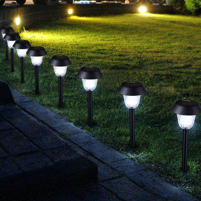 8 x Litom Solar Outdoor LED Path Light Lawn Stake Lamp