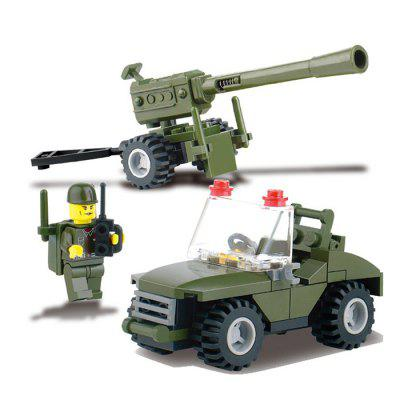 DIY Military Theme Vehicle Style Educational Toy