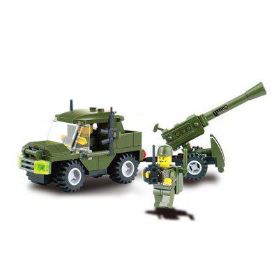 DIY Military Theme Vehicle Style Educational ToyBlock Toys<br>DIY Military Theme Vehicle Style Educational Toy<br><br>Completeness: Semi-finished Product<br>Gender: Unisex<br>Materials: ABS<br>Package Contents: 93 x Module<br>Package size: 19.00 x 9.40 x 4.50 cm / 7.48 x 3.7 x 1.77 inches<br>Package weight: 0.080 kg<br>Product size: 22.30 x 4.70 x 9.50 cm / 8.78 x 1.85 x 3.74 inches<br>Product weight: 0.075 kg<br>Stem From: Europe and America<br>Theme: Movie and TV