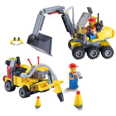 DIY Engineering Team Excavator Style Educational Puzzle Toy