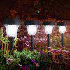 8 x Litom Solar Outdoor LED Path Light Lawn Stake Lamp - WHITE LIGHT