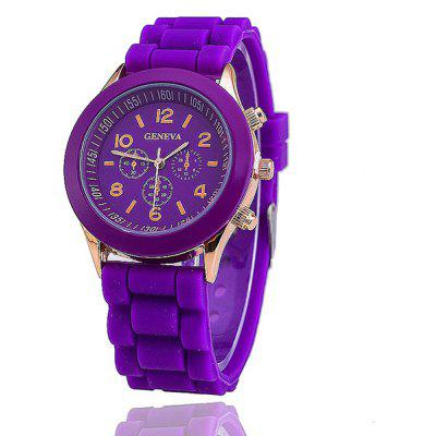 Silicone Digital Analog Watch
