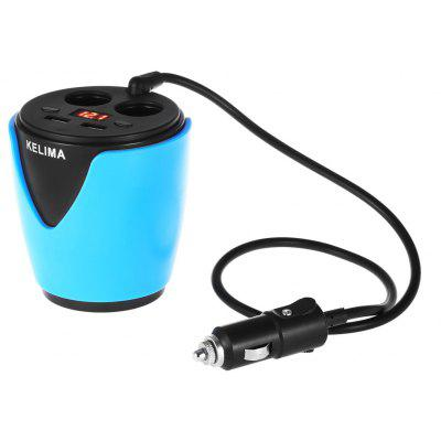 KELIMA Cup Design Voltage Display Car Charger
