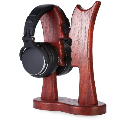 Hand Made Merbau Wood Two Headphones Holder