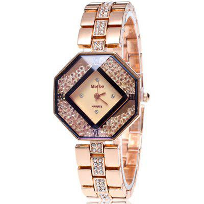 Rhinestone Geometric Dial Plate Watch