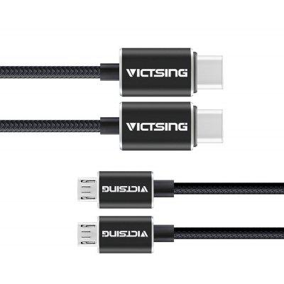 2pcs VicTsing Type-C to Micro USB Data Sync Charging Cable