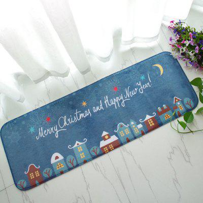 Christmas Flannel Anti-slip Soft Doormat