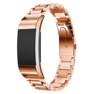 Buy ROSE GOLD Three Bead Strap for Fitbit Charge 2 Smart Watch for $18.60 in GearBest store