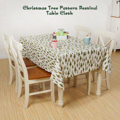 Christmas Tree Pattern Festival Table Cloth