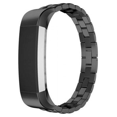 Buy BLACK Stainless Steel Strap for Fitbit Alta Smart Watch for $18.30 in GearBest store