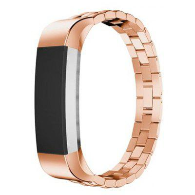 Buy ROSE GOLD Stainless Steel Fitbit Alta Smart Watch Band for $18.30 in GearBest store