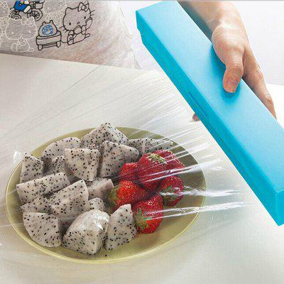 30CM Practical Fresh - keeping Film Cutter Stainless Steel Blade Cutting Box