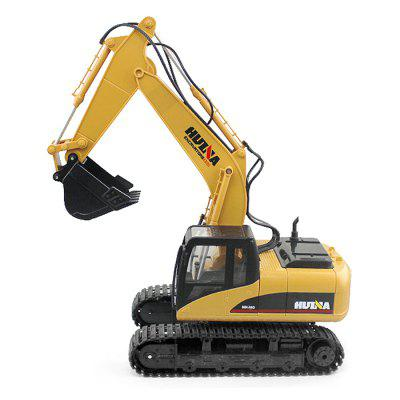 HUINA 1550 1:14 2.4GHz 15CH RC Alloy Excavator - RTRRC Cars<br>HUINA 1550 1:14 2.4GHz 15CH RC Alloy Excavator - RTR<br><br>Brand: HUINA<br>Channel: 15-Channels<br>Charging Time: 120 Minutes<br>Detailed Control Distance: About 100m<br>Drive Type: Other<br>Features: Radio Control<br>Functions: With music, With light, Turn left/right, Forward/backward, 680 degree rotation<br>Material: Rubber, Alloy, ABS<br>Package Contents: 1 x RC Excavator ( Battery Included ), 1 x Transmitter, 1 x USB Cable<br>Package size (L x W x H): 56.50 x 19.00 x 35.50 cm / 22.24 x 7.48 x 13.98 inches<br>Package weight: 2.9000 kg<br>Product weight: 2.0000 kg<br>Proportion: 1:14<br>Racing Time: About 30mins<br>Remote Control: 2.4GHz Wireless Remote Control<br>Transmitter Power: 2 x 1.5V AA battery (not included)<br>Type: Engineering Car